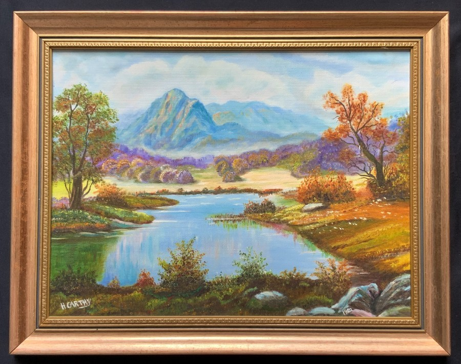 Delightful Original Signed Contemporary British Highland Landscape Oil Painting
