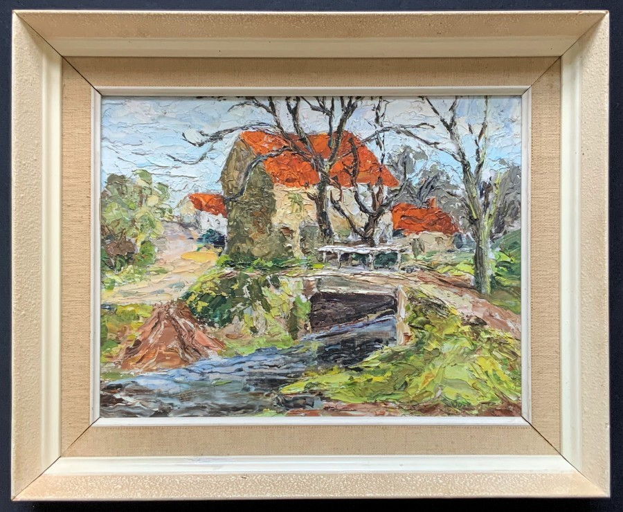 Incredible Mid 20th Century Impressionist Landscape Painting - Oil & Impasto