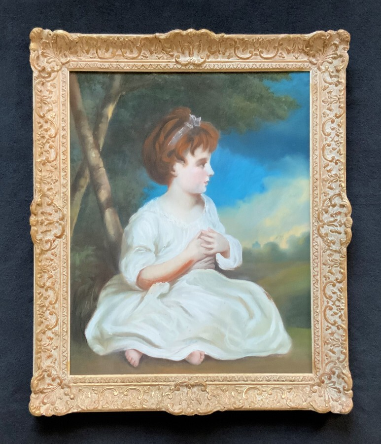 After Sir Joshua Reynolds (1723-1792) Original Antique Pastel Portrait Painting