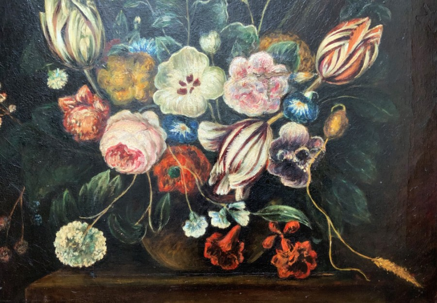 Antique Period - 18thc - Dutch School - Floral - Still Life - Oil Painting - Circa 1780