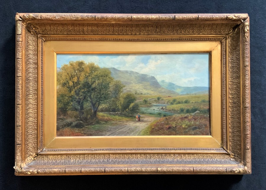 John Gunson Atkinson (fl 1849-1885) Nr Bakewell, Derbyshire Country Oil Painting
