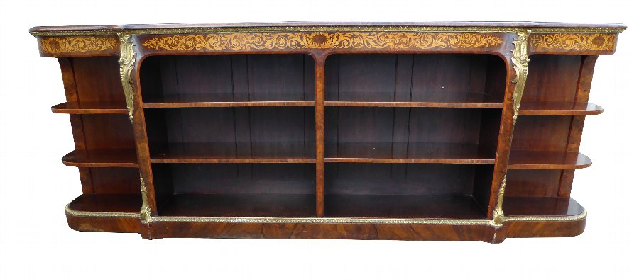 19th Century Victorian Burr Walnut Credenza