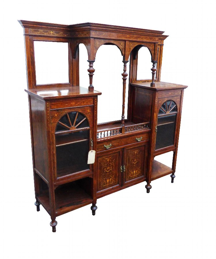 20th Century Edwardian Rosewood Display Cabinet
