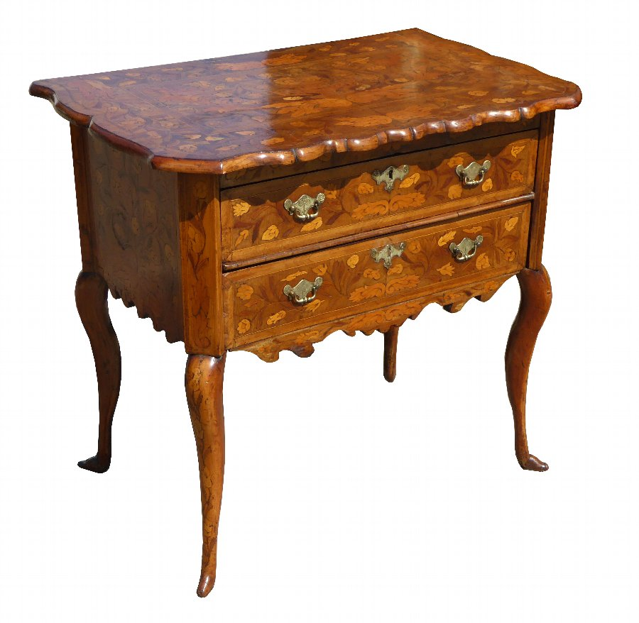 18th Century Dutch Marquetry Lowboy