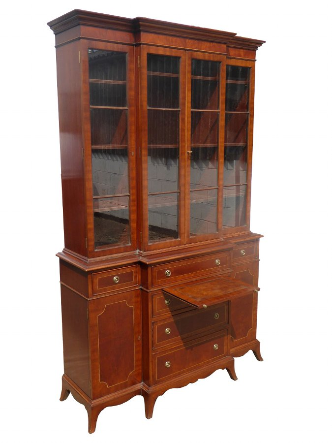 20th Century George III Style Breakfront Bookcase