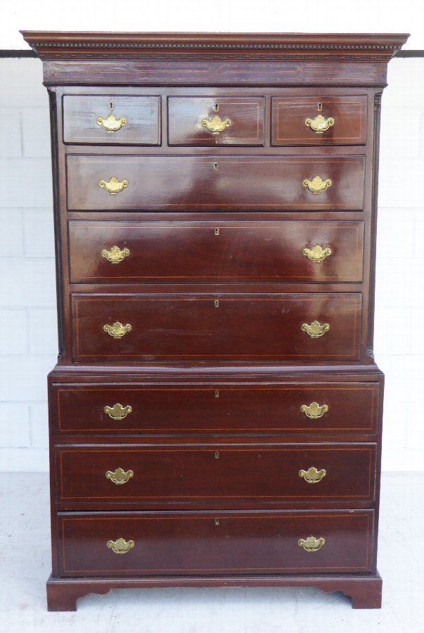 18th Century Mahogany Chest on Chest