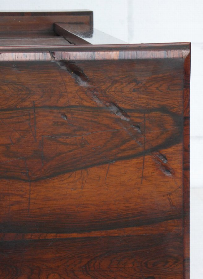 Antique 19th Century Victorian Rosewood Wellington Chest