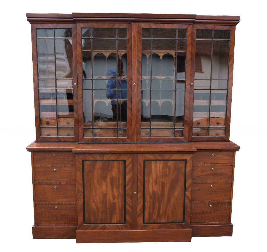 18th Century George III Mahogany Breakfront Bookcase
