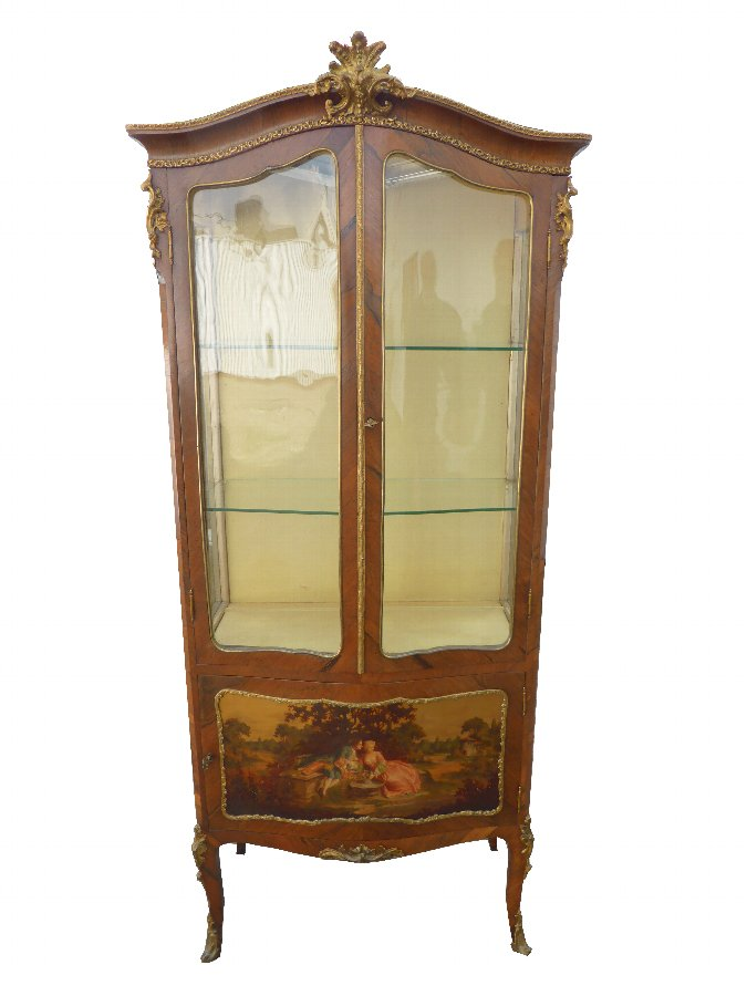 19th Century Vernis Martin Display Cabinet