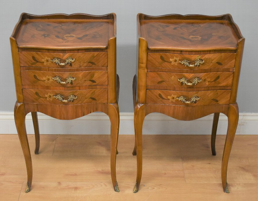 Pair Louis XV Style Bedside Chests