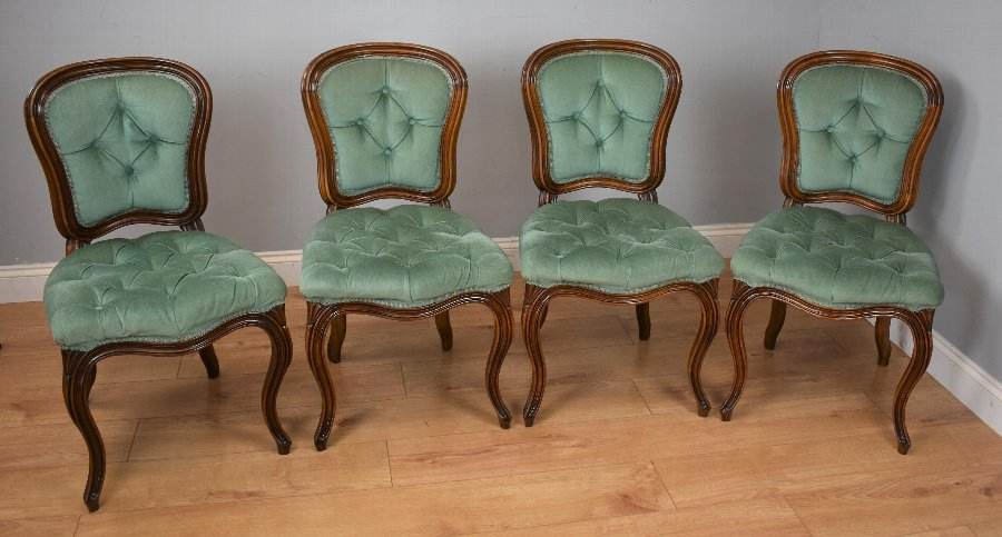 Set Four French Beech Dining Chairs