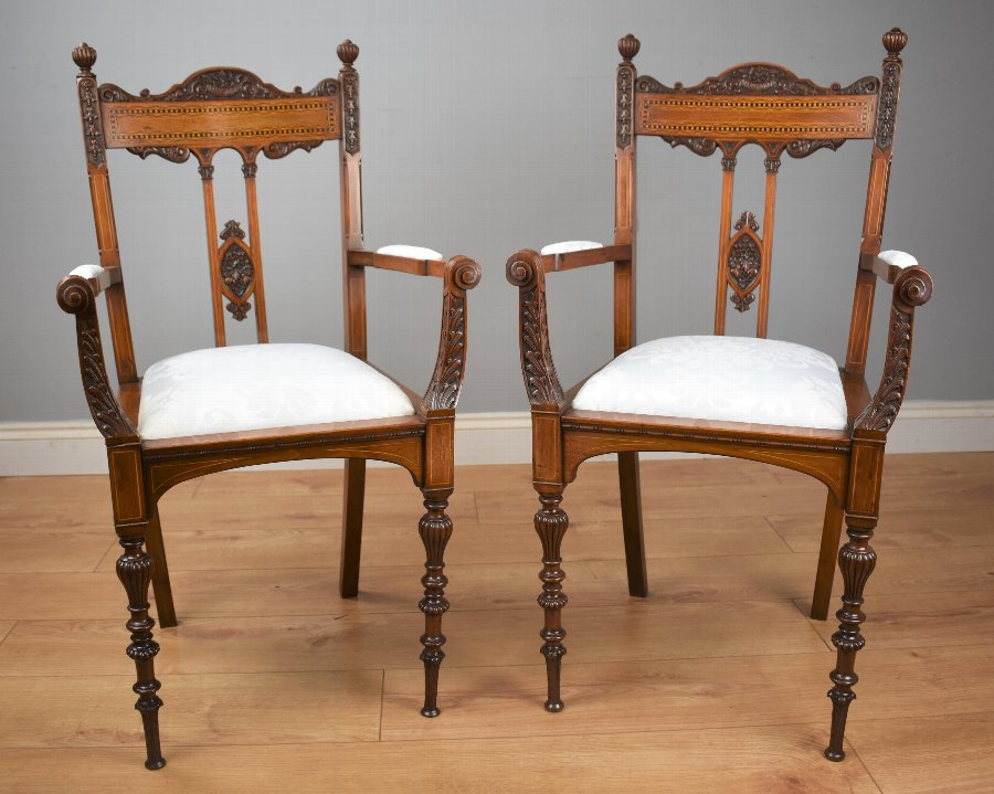 Pair Victorian Mahogany Chairs
