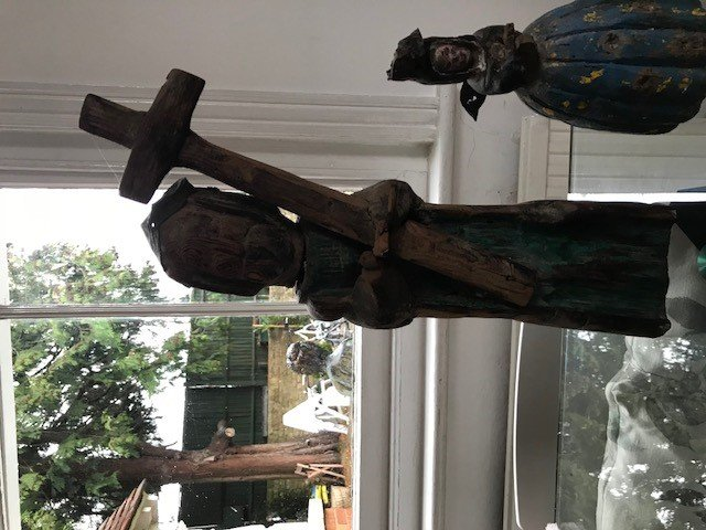 Pair of South American wooden sculptures