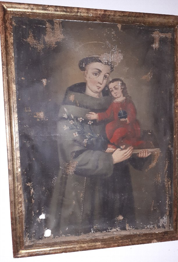 Oil Painting on canvas of St Anthony of Padua