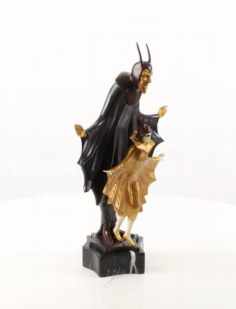 Antique Satanella - Cold painted bronze sculpture Art Deco style