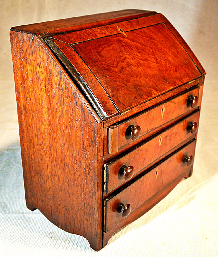 19th Century apprentice made, Miniature Bureau Desk