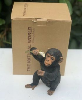 Antique Country Artists Natural World Chimp Chimpanzee Ape Monkey Figure Figurine