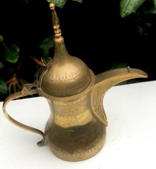 Antique Antique Brass Islam Islamic Arabic Indian Dallah Teapot Jug Tea Coffee Pot