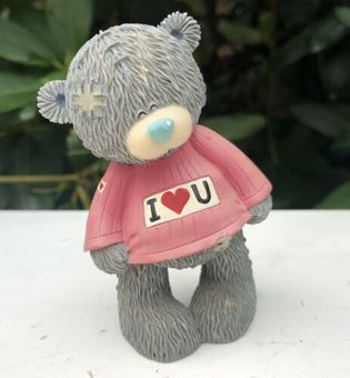 Antique Me To You Bear Tatty Teddy I Luv You Love Figure Figurine Ornament Gift