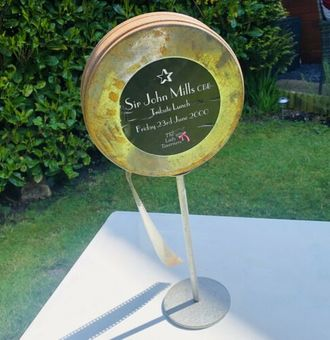 Antique Sir John Mills The Lady Taverners Tribute Lunch RARE Charity Table Centre Piece