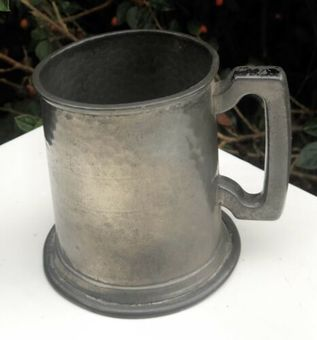 Antique Viners Of Sheffield Pewter Vintage Beer Mug Tankard