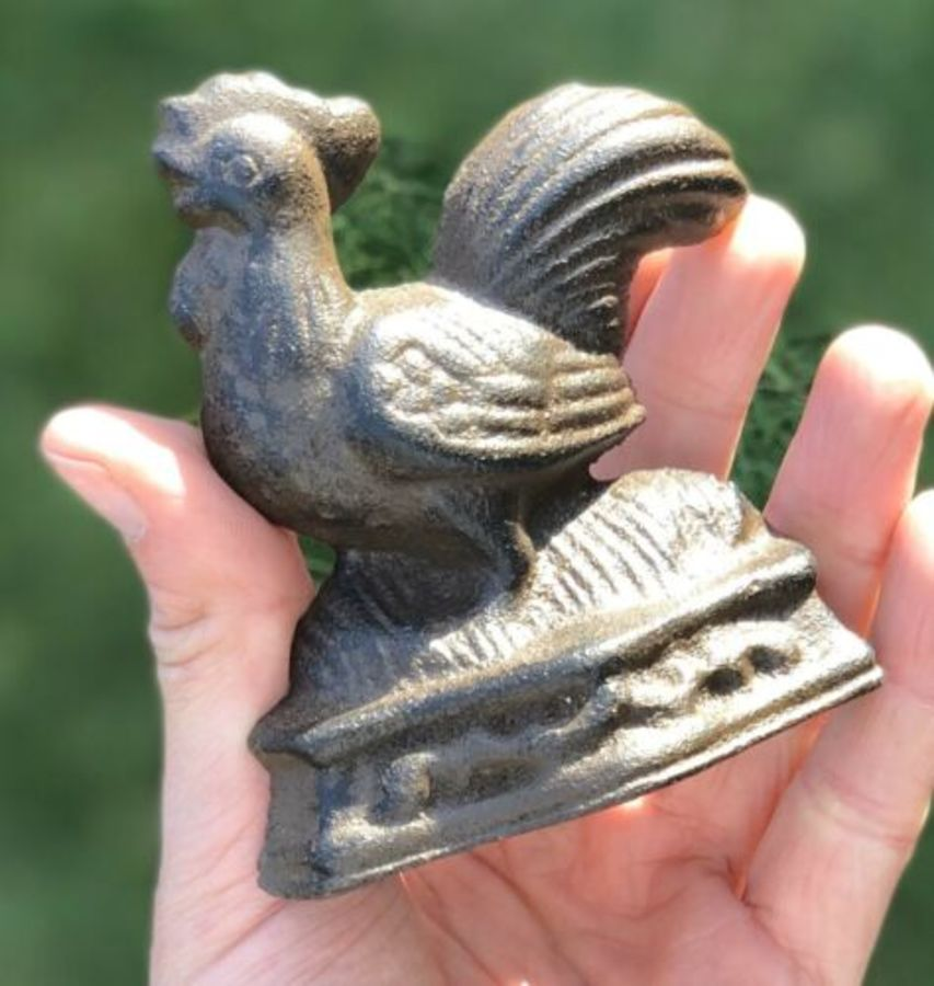 Chicken Or Cockerel Cast Iron Small Door Wedge Door Stop