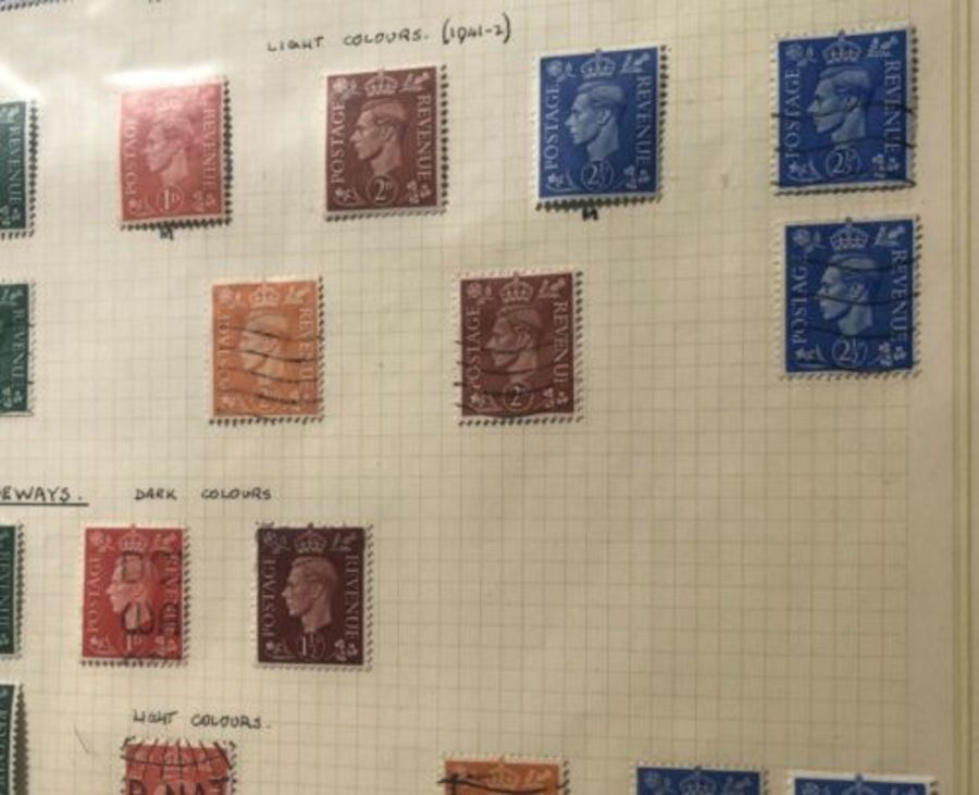 Antique George VI 1937-47 Collection Of Antique Watermark Original Stamps