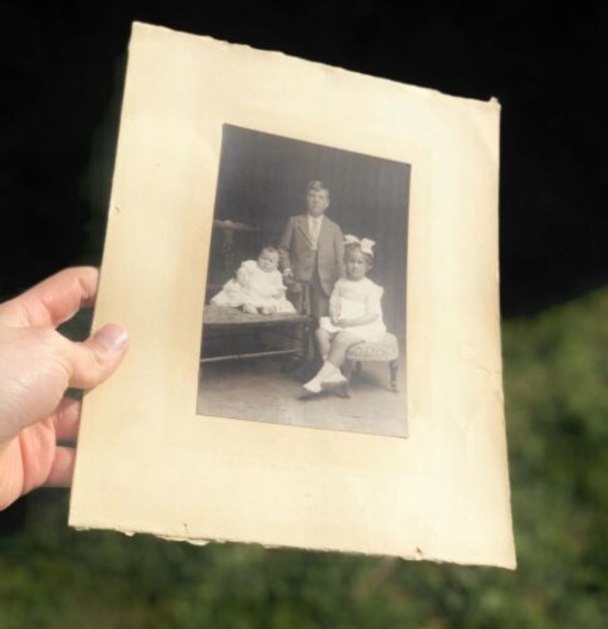 Antique Young Girl Boy Baby Child Skegness Mablethorpe Original Photo Photograph
