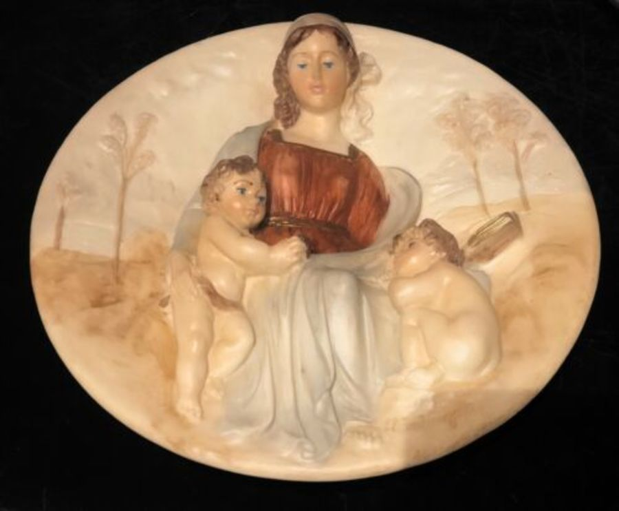The Gift Of Wisdom By Maestro Alberto Santargeta Alabaster Italian Wall Plaque
