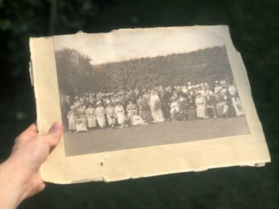 Antique Vintage Wedding Marriage Ceremony Bride Groom Original Photo Photograph
