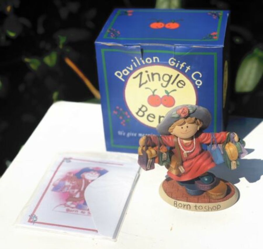 Pavilion Gift Co Company Zingle Berry Born To Shop Figure Figurine Ornament