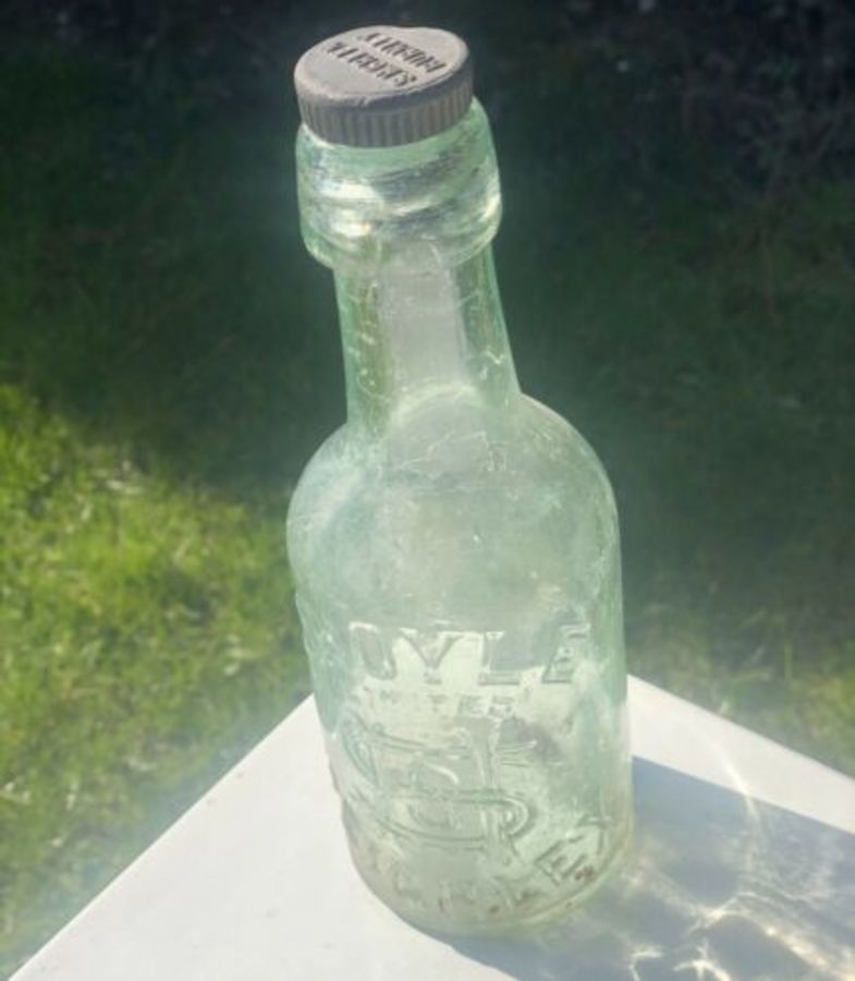 S. Hoyle Keighley Antique Glass Bottle With RARE Original Lid