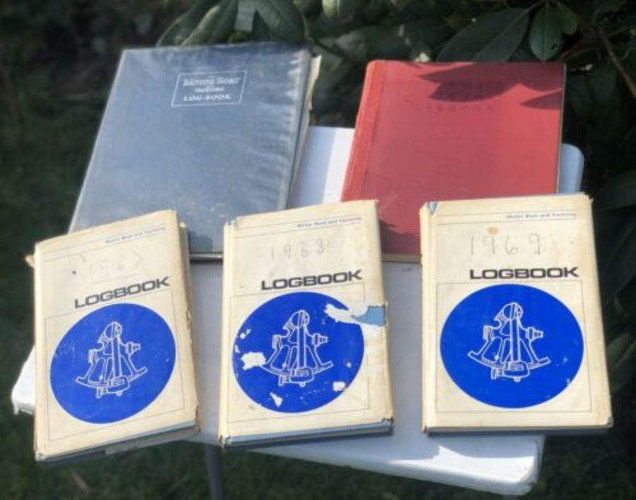 Motor Boat Yacht Company Vintage Collection Log Books Ledgers Diaries Journals