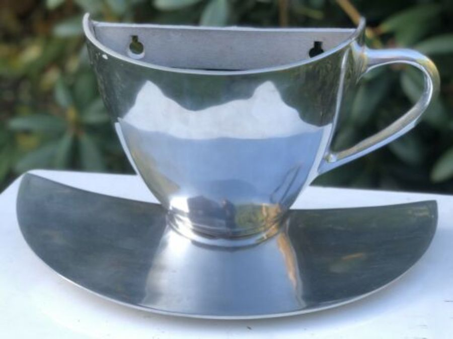 Large Aluminium Teacup Tea Coffee House Cafe Restaurant Shop Advertising Sign