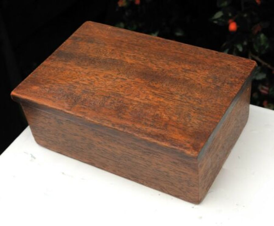 Antique Wood Wooden Match Box Snuff Box Tobacco Box