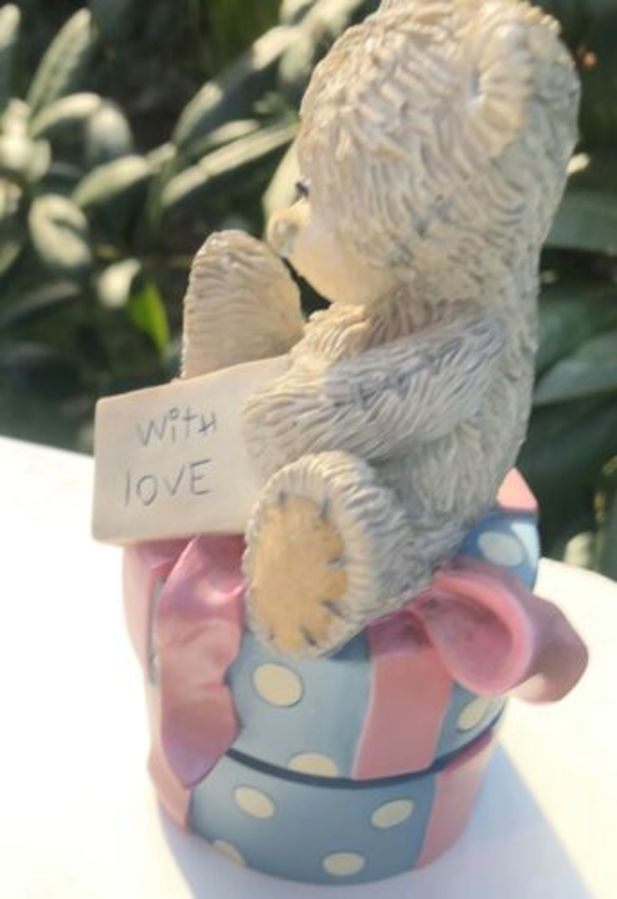 Antique Tatty Teddy Me To You With Love Handmade Trinket Box Figure Figurine Ornament
