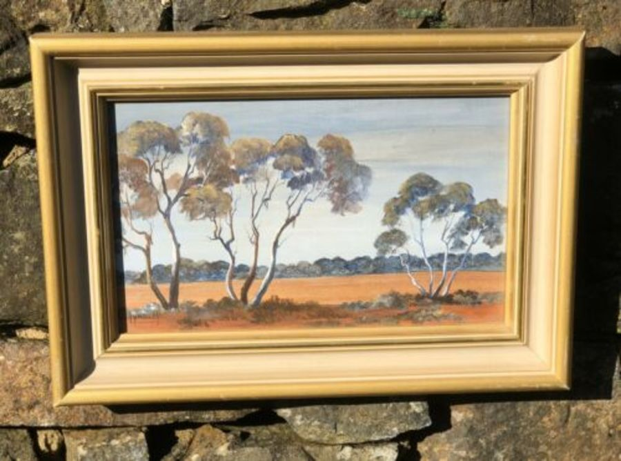 Lyndley Moore Fringe Country Australian Forest Woods Trees Acrylic Painting