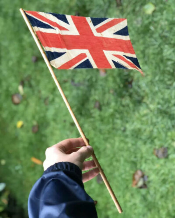 Antique Vintage Union Jack British Made Celebration Original Wartime Flag