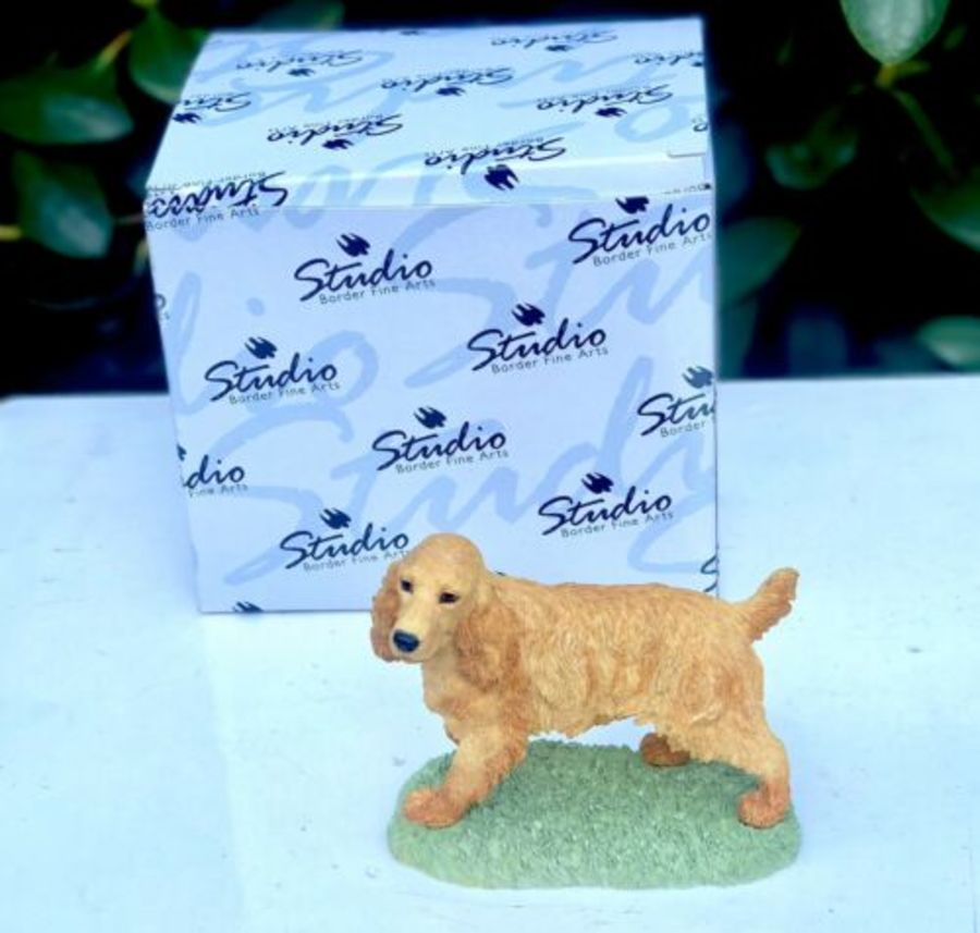 Border Fine Arts The Dog Collection Cocker Spaniel Standing (Golden) Figure