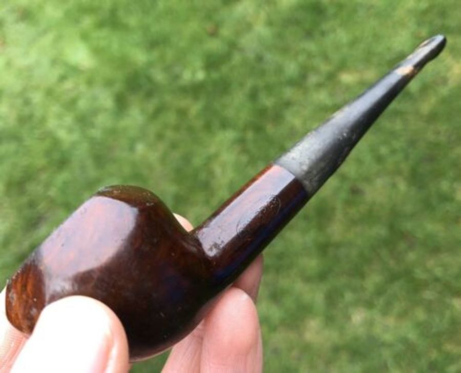 Real Briar Antique Hexagonal Wooden Pipe