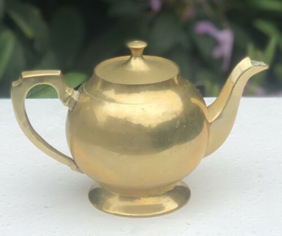 Antique Brass Teapot Tea Pot