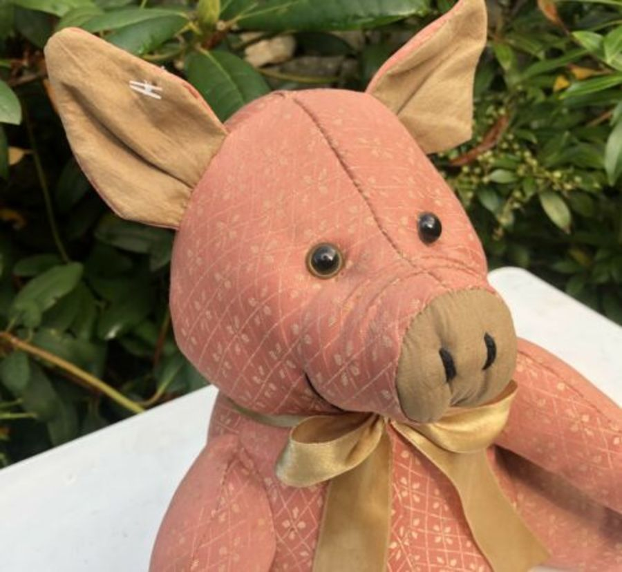 Antique Doramouse & Company Pig Or Piglet Design Soft Toy Door Stop