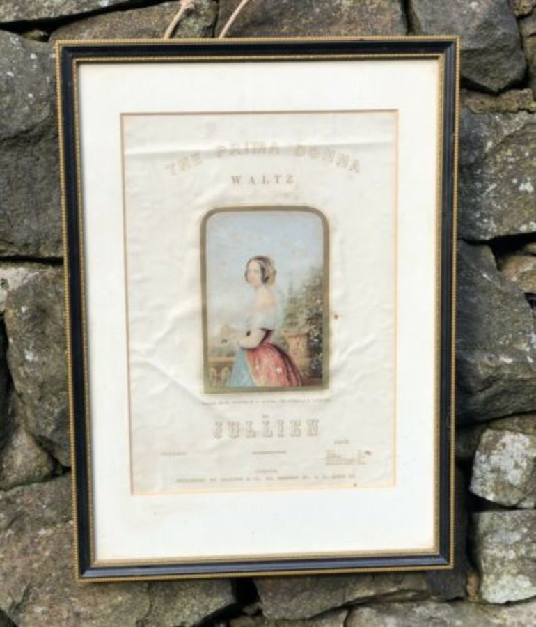 Jullien The Prima Donna Waltz Antique C1800s Advert Poster