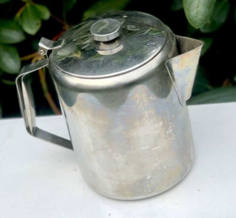Very Large Oversized Stainless Steel Tea Coffee Pot