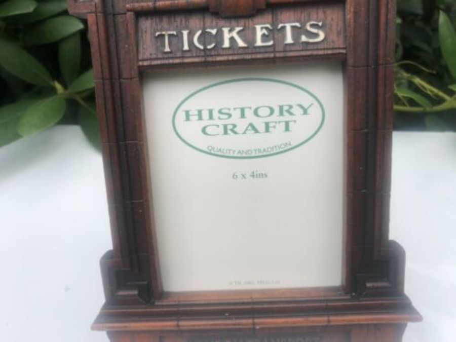 Antique History Craft Tickets London Underground Metro Railway Train Design Photo Frame