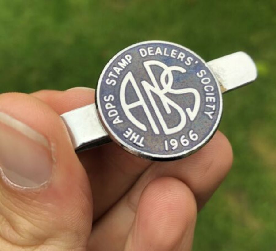 The ADPS Stamp Dealers Society Enamel Money Clip