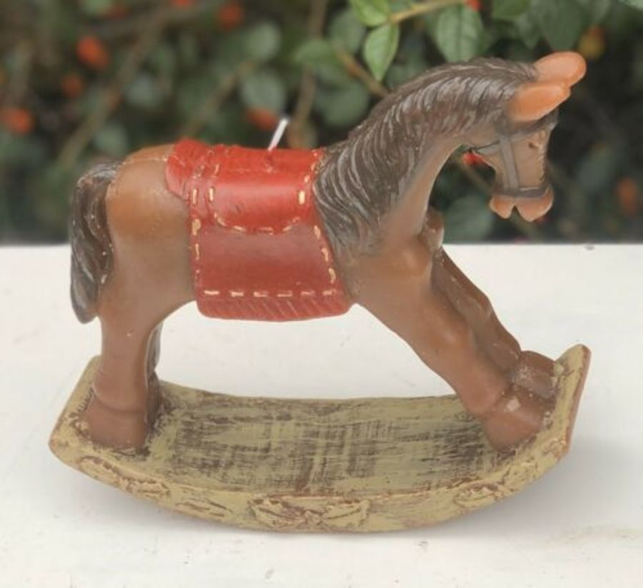 Rocking Horse Model Horse Rocker Shaped Modern Contempory Art Wax Candle