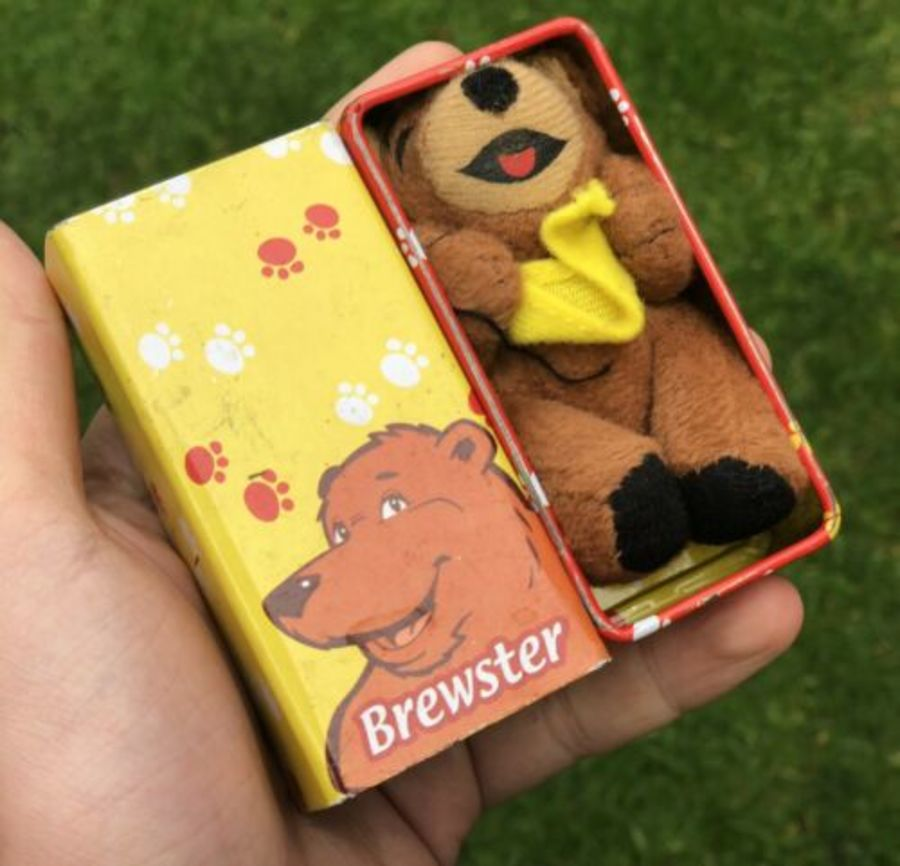 Brewster Bear RARE Brewers Fayre Small Pub Restaurant Whitbread Teddy Bear Toy