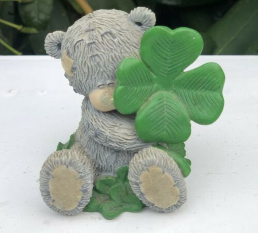 Me To You Bear Tatty Teddy Lucky Bear Clover Irish Figure Figurine Ornament Gift