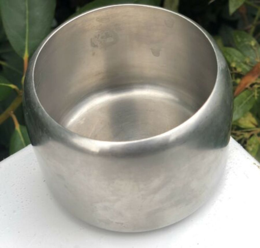 Sugar Bowl In Circular Wise Shape By Old Hall Made Of Stainless Steel